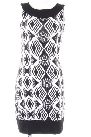 Bruno Banani Schlauchkleid schwarz-weiß abstraktes Muster Elegant