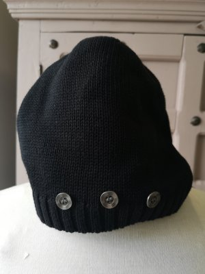 Bruno Banani Schlichte schwarze Mütze Baumwolle