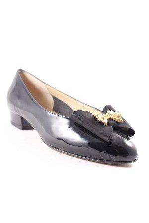 Bruno Magli Patent Leather Ballerinas black casual look