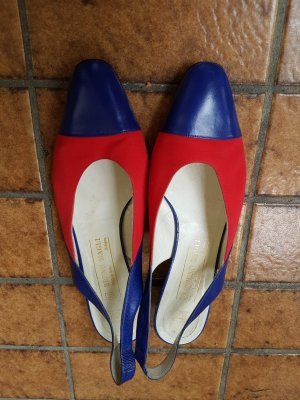 Bruno Magli Ballerinas with Toecap red-blue