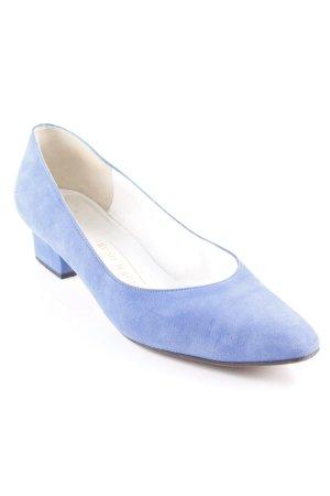 Bruno Magli Spitz-Pumps kornblumenblau Vintage-Look