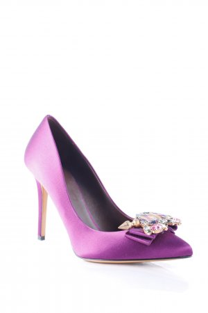 Bruno Magli Spitz-Pumps violett Eleganz-Look