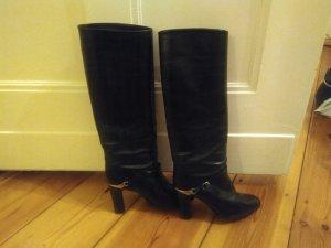 BRUNO MAGLI vintage Stiefel in schwarz mit Metallspangen Gr.37