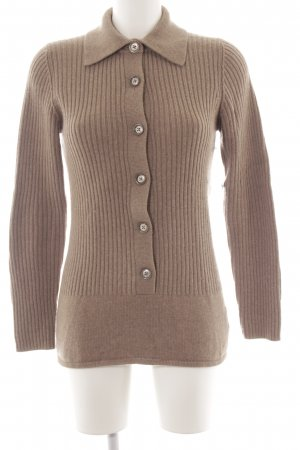 Bruno Manetti Cashmerepullover hellbraun Casual-Look