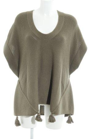 Bruno Manetti Short Sleeve Sweater green grey casual look