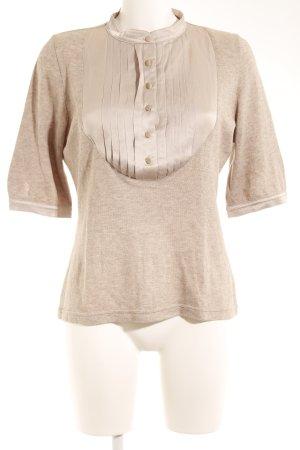 Bruno Manetti T-Shirt hellbeige-graubraun College-Look