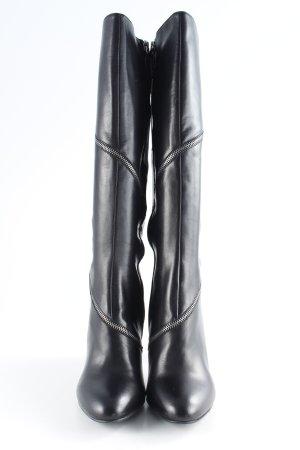 Bruno Premi Laarzen met hak zwart-zilver elegant