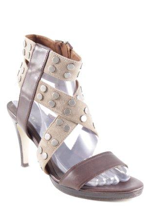 Bruno Premi High Heel Sandaletten dunkelbraun-graubraun Casual-Look