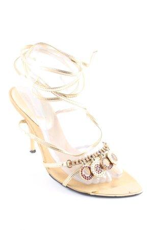 Bruno Premi High Heel Sandaletten goldfarben-braun extravaganter Stil