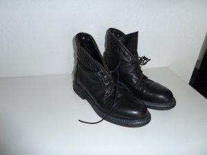 Bruno Premi Leder Boots Stiefeletten Gr. 38 schwarz