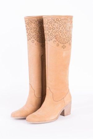 Bruno Premi Boots western chameau cuir