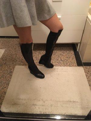 Bruno Premi Neue Plateau-Overknee-Stiefel aus Leder