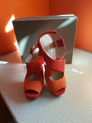 Bruno Premi # Plateau Sandalen in orange/rot # Grösse 41 # NEU #