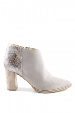 Bruno Premi Zipper Booties light grey-silver-colored animal pattern casual look