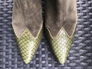 Bruno Premi Western Boots multicolored suede