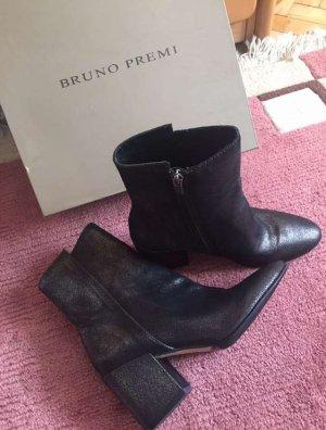 Bruno Premi Zipper Booties light brown leather