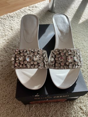 Bruno Premi Heel Pantolettes white-silver-colored