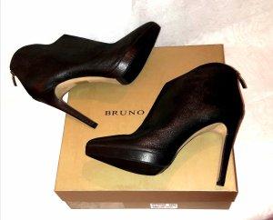 Bruno Premi Voll Leder High Heels Stiefelette Gr.41 Neu mit Etikett