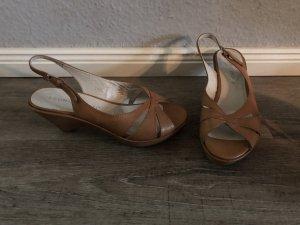 Bruno Premi Wedges echt Leder Sandaletten Keilabsatz Np 139€ Gr. 38