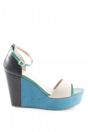 Bruno Premi Wedges Sandaletten Colourblocking Elegant