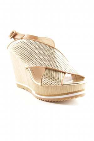 Bruno Premi Wedge Sandals gold-colored-light brown casual look
