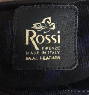 Bruno Rossi dark blue leder Tasche