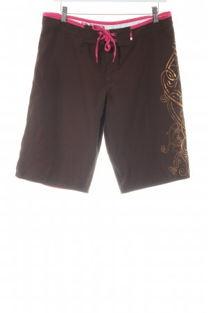 Brunotti Bermudas dark brown-magenta beach look