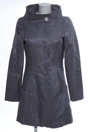 Bruphils Abrigo corto gris claro look efecto mojado