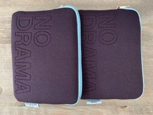 Mini sac brun pourpre-turquoise
