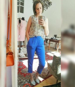 Bruuns Bazaar Hose Stoffhose Seidenhose Seide Anklehose