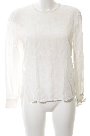Bruuns bazaar Langarm-Bluse weiß Casual-Look