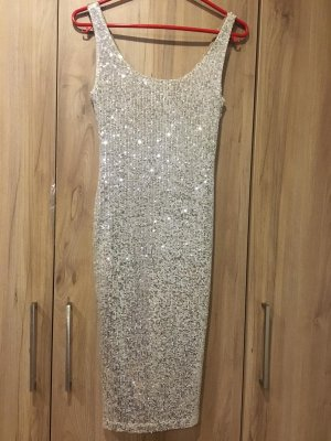 BSB Collection Sequin Dress silver-colored-light grey