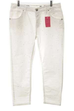BSB Jeans Stretch Jeans white-black allover print casual look