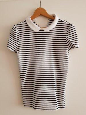 Hallhuber Shirt white-black