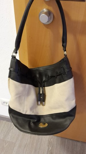 Bucket Bag in grau-beige, Wildlederoptik, von H&M