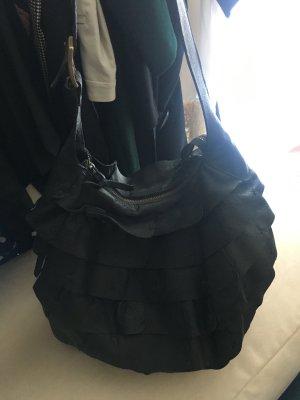 Bucket Bag schwarzes Leder