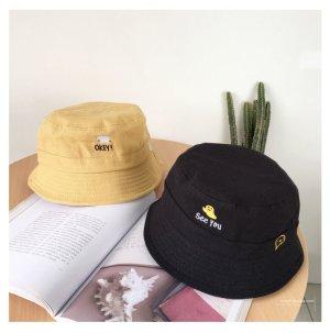 Sombrero de cubo amarillo neón Algodón