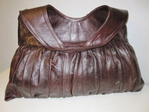 Carry Bag dark brown leather