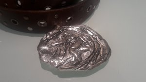 Belt Buckle silver-colored stainless steel