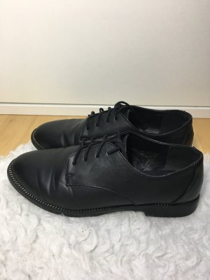 Atmosphere Wingtip Shoes black-gold-colored