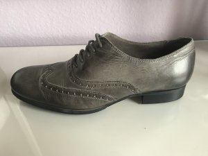 Café Noir Wingtip Shoes grey leather