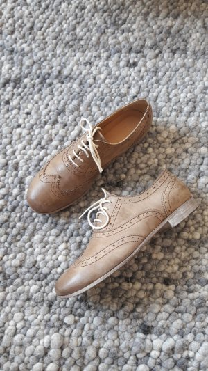 René Lezard Wingtip Shoes grey brown leather