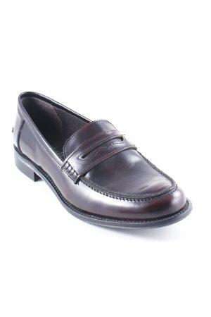 Zapatos Budapest burdeos estilo «business»