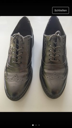 Tamaris Wingtip Shoes silver-colored-rose-gold-coloured
