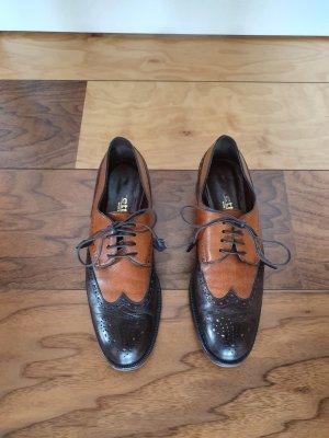 Budapest schoenen donkerbruin-cognac