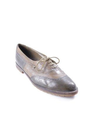 Richelieu kaki-gris brun style anglais