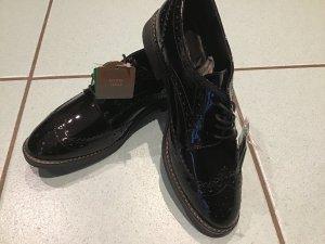 5th Avenue Zapatos brogue negro Cuero