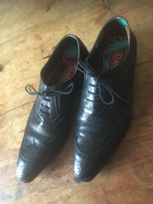 Dolce & Gabbana Wingtip Shoes black leather