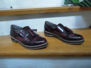 Budapester Schuh Bordeaux Gr. 39 Tamaris