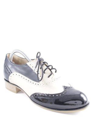 Zapatos Budapest negro-crema estilo «business»
